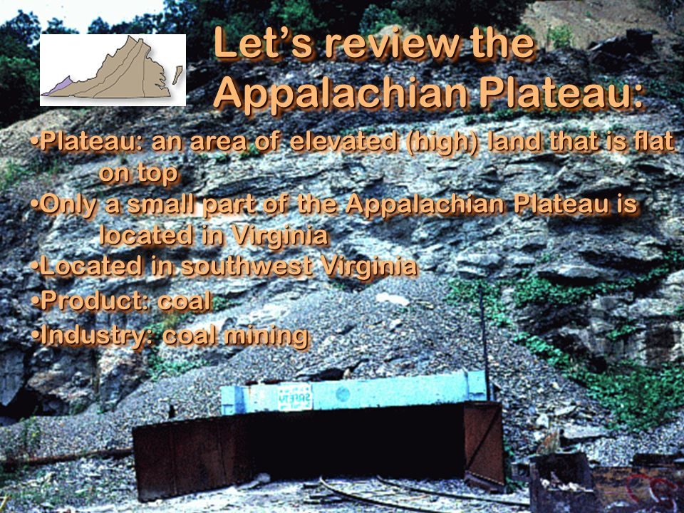Let's review the Appalachian Plateau: