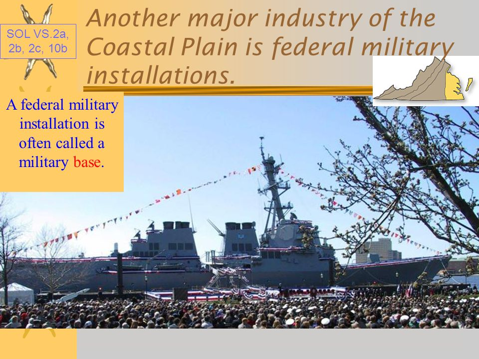 A federal military installation is often called a military base.