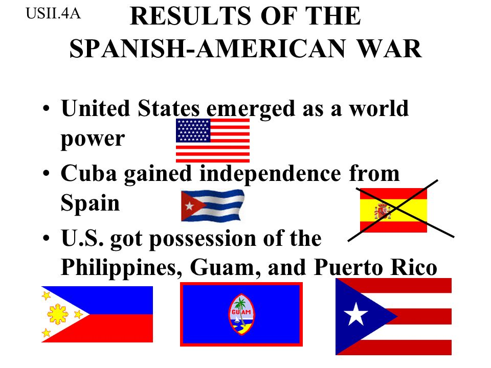 RESULTS OF THE SPANISH-AMERICAN WAR