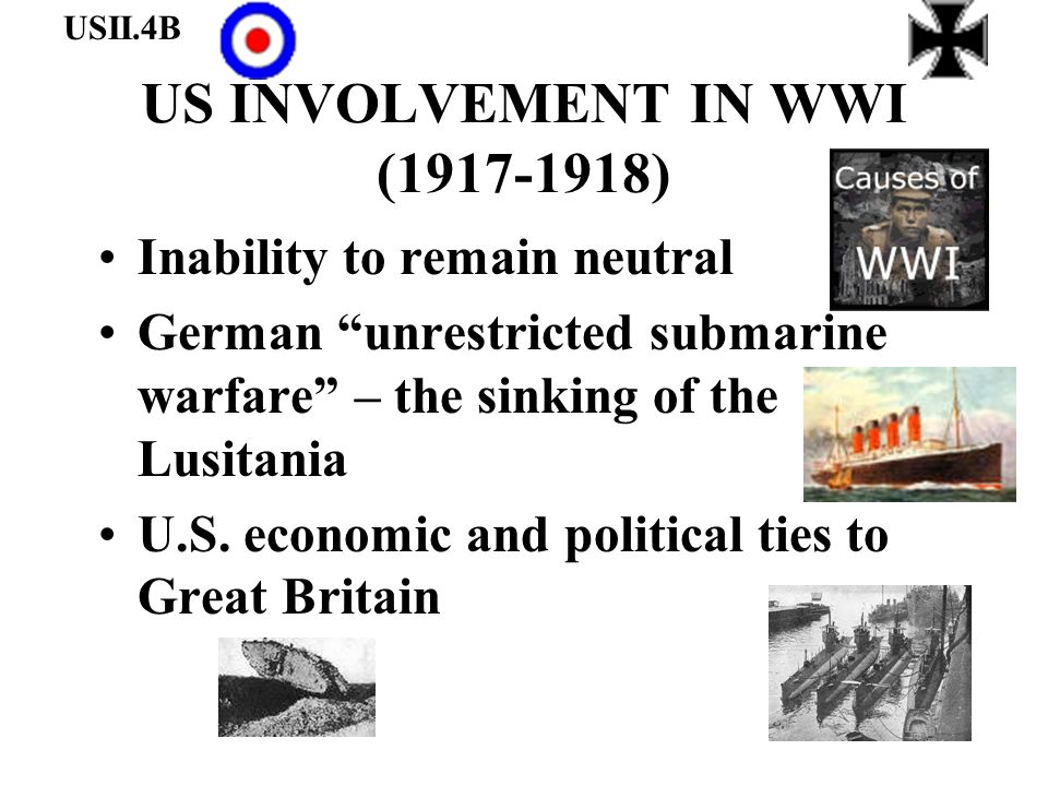 US INVOLVEMENT IN WWI (1917-1918)