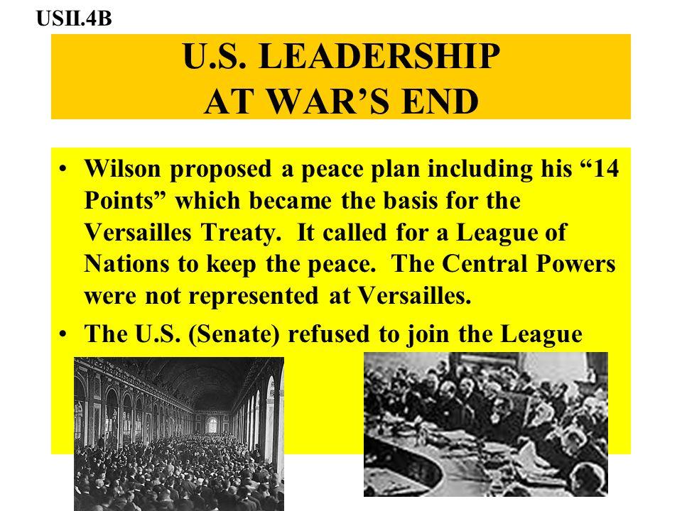 U.S. LEADERSHIP AT WAR'S END