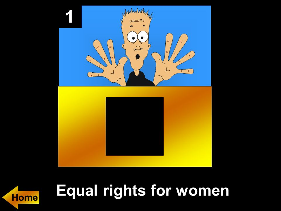 1 Equal rights for women Home