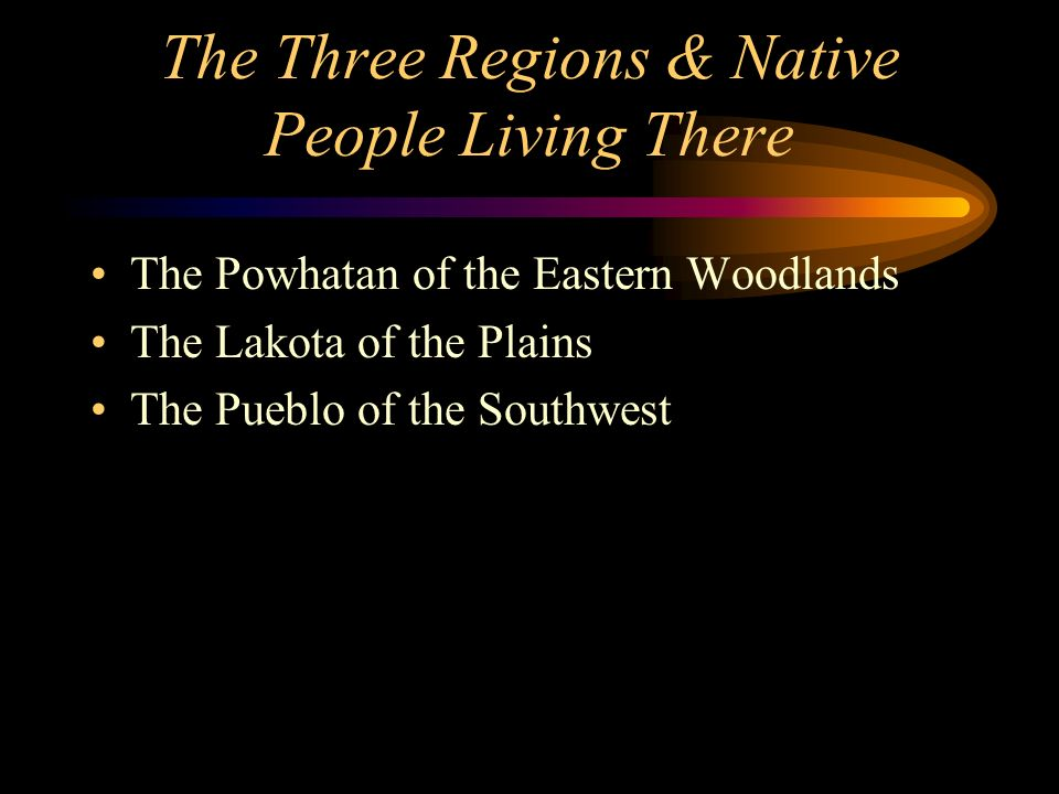 The Three Regions & Native People Living There