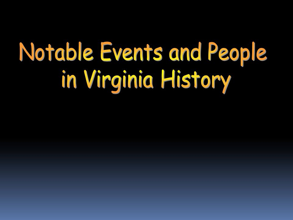 Notable Events and People