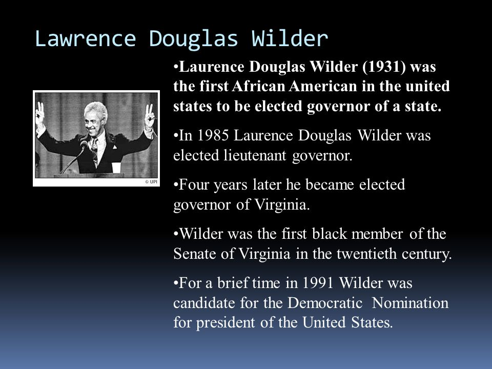Lawrence Douglas Wilder