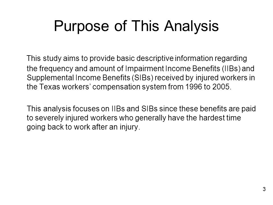 Purpose of This Analysis