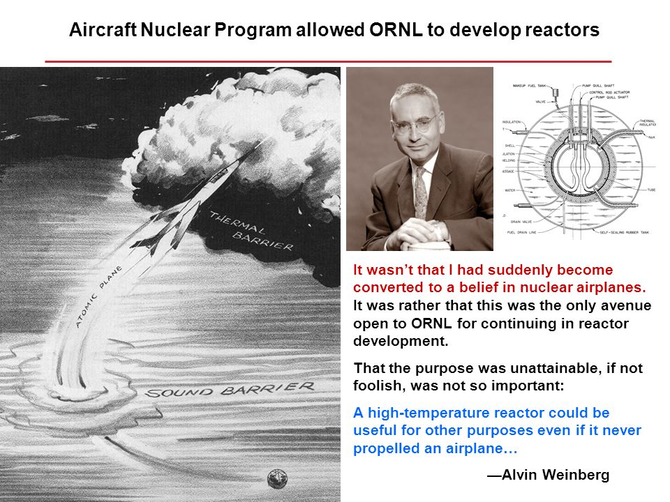 Aircraft Nuclear Program allowed ORNL to develop reactors