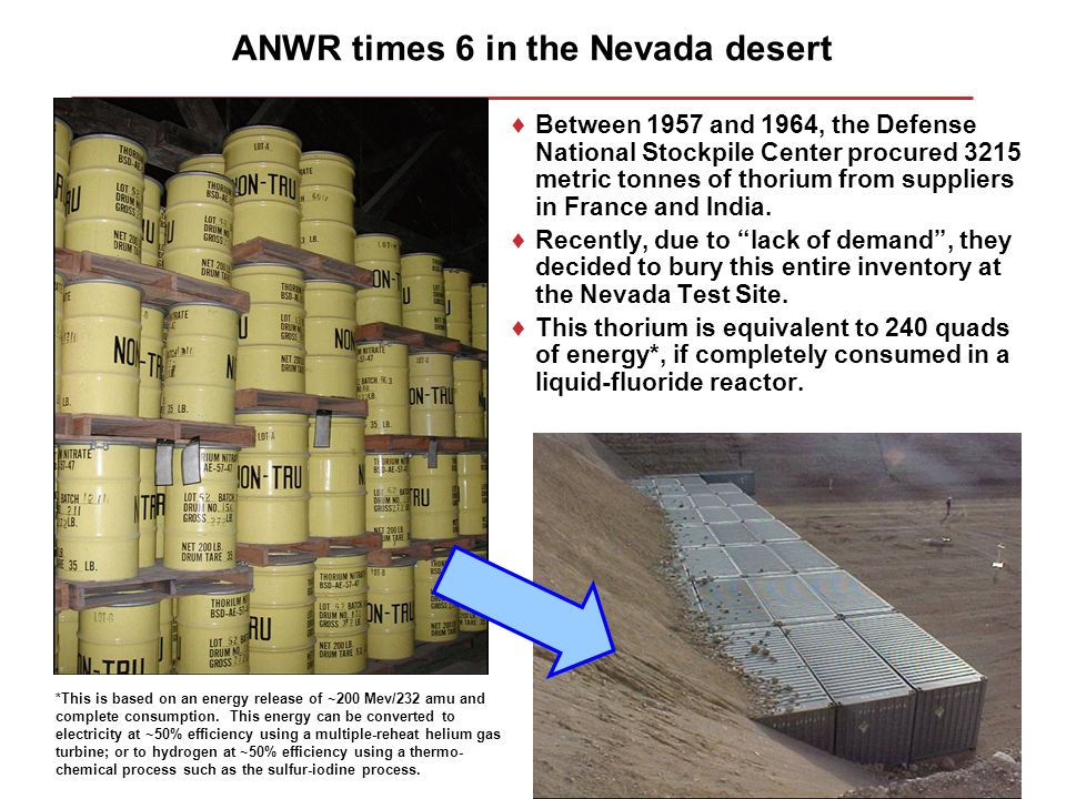 ANWR times 6 in the Nevada desert