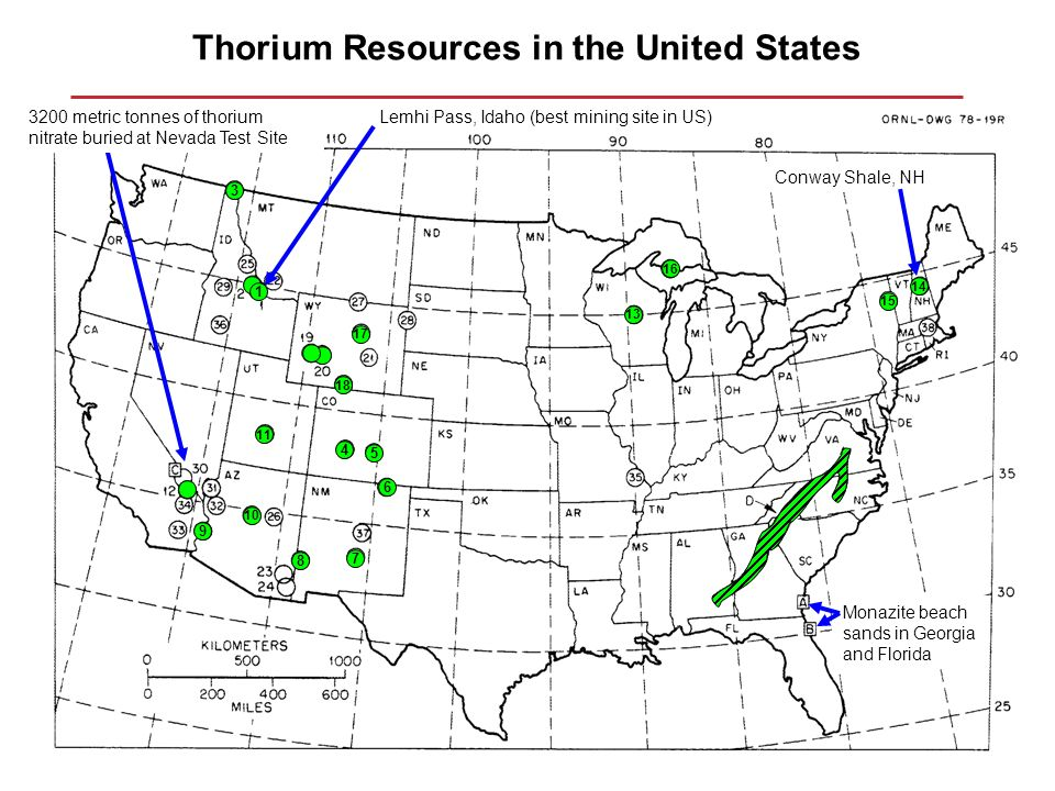 Thorium and the liquid fluoride thorium reactor concept ppt download thorium resources in the united states publicscrutiny Choice Image
