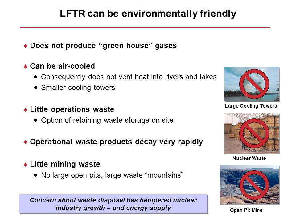LFTR can be environmentally friendly