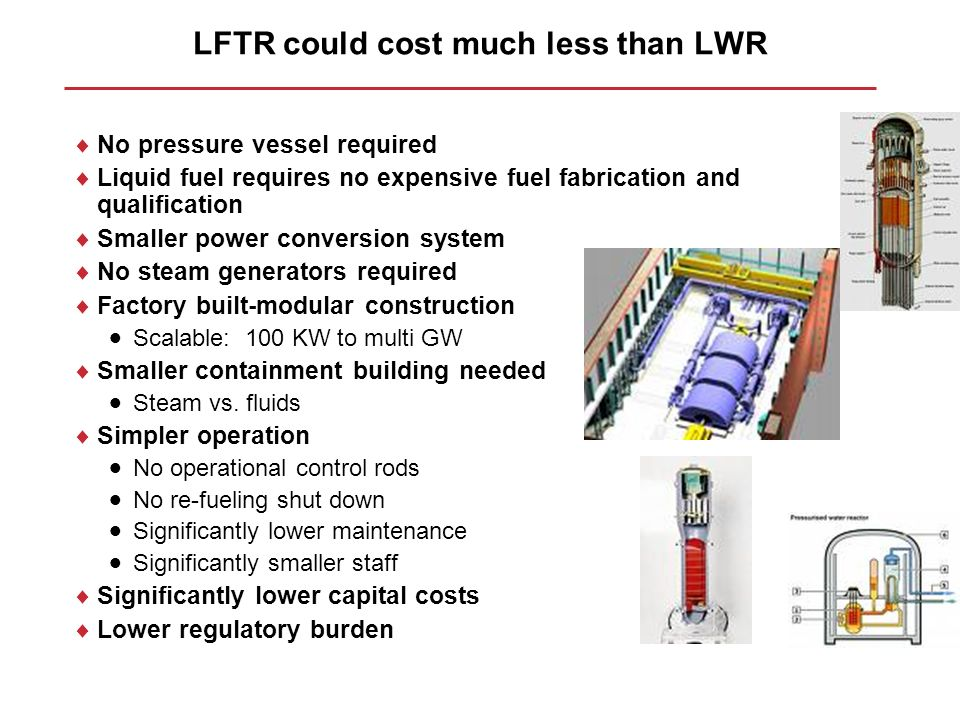 LFTR could cost much less than LWR
