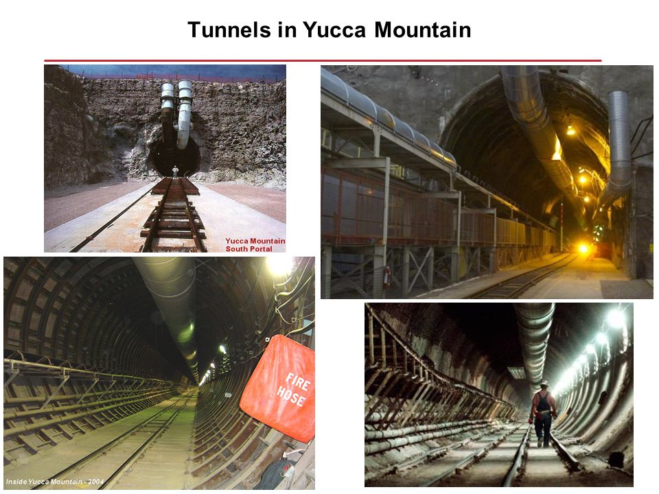 Tunnels in Yucca Mountain