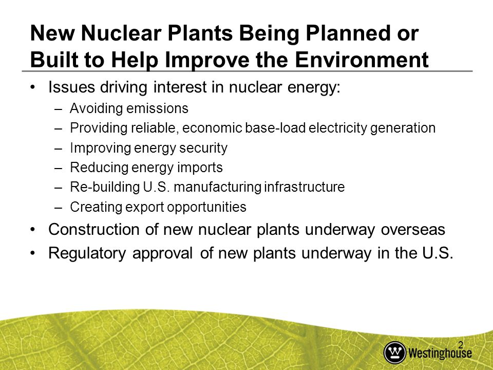 New Nuclear Plants Being Planned or Built to Help Improve the Environment