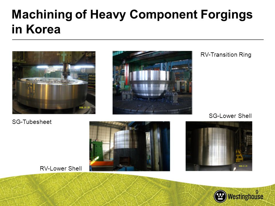 Machining of Heavy Component Forgings in Korea