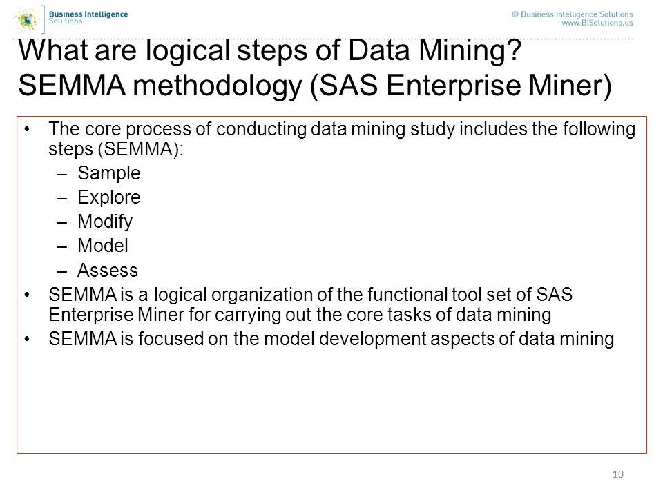 What are logical steps of Data Mining