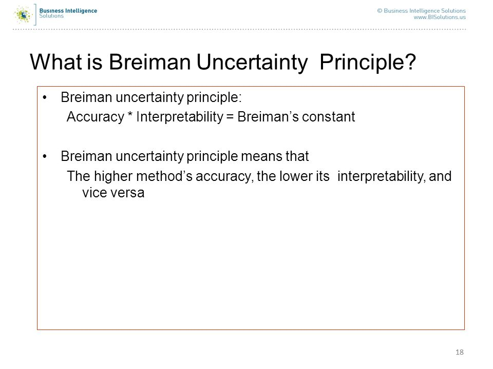 What is Breiman Uncertainty Principle
