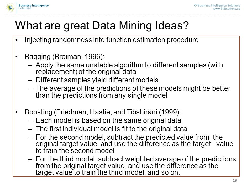 What are great Data Mining Ideas