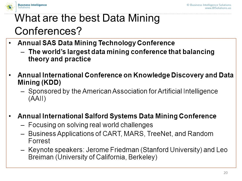 What are the best Data Mining Conferences