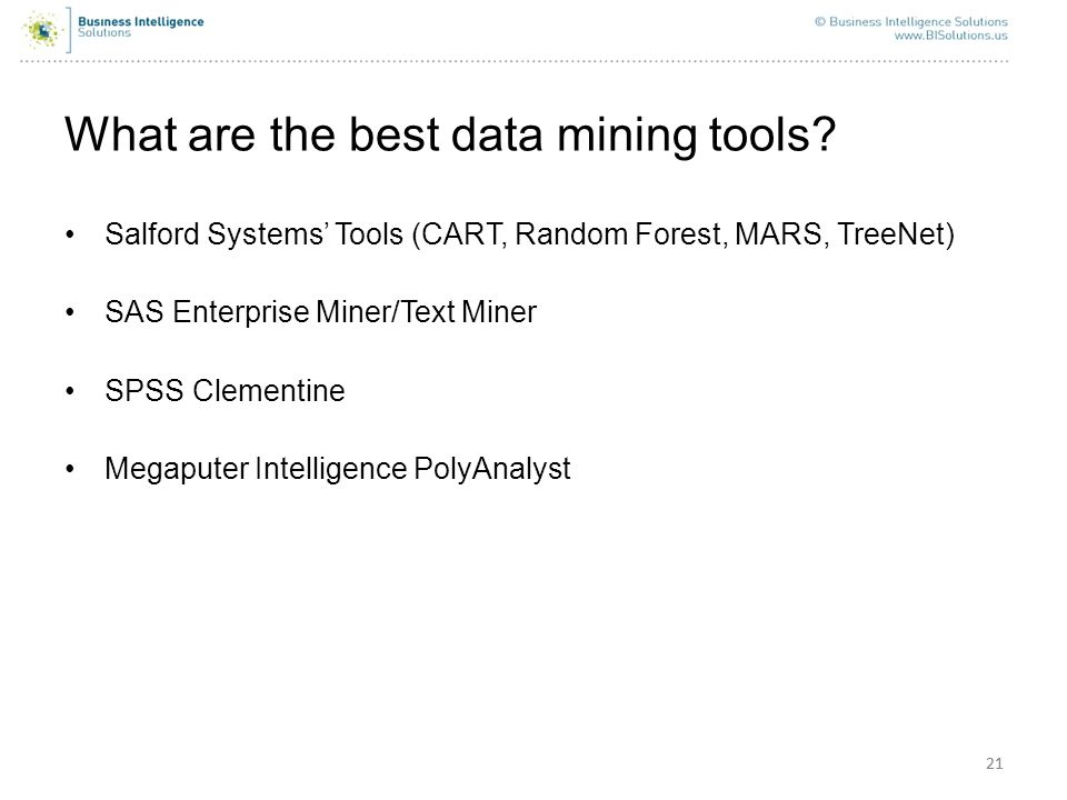 What are the best data mining tools