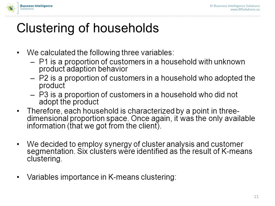 Clustering of households