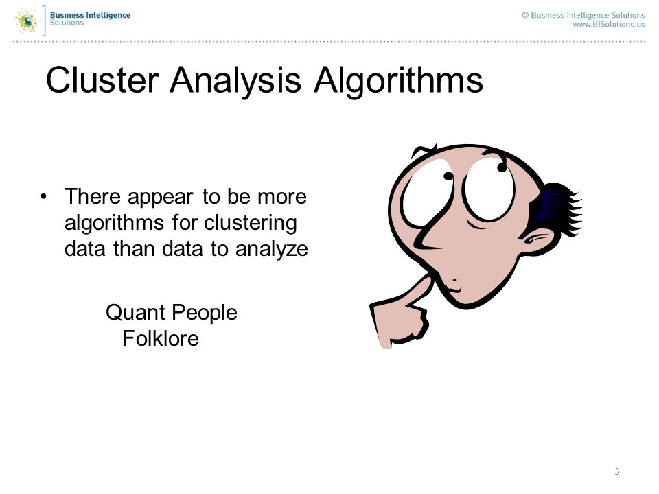 Cluster Analysis Algorithms