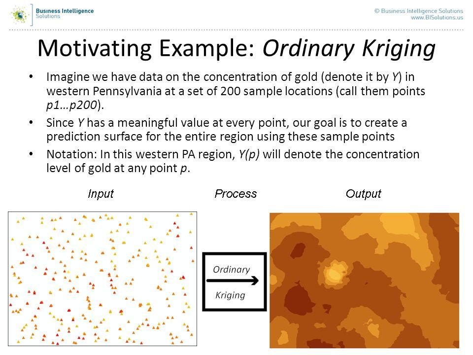 Motivating Example: Ordinary Kriging