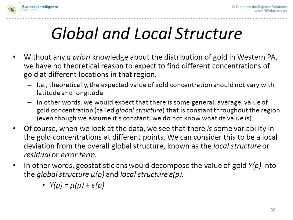 Global and Local Structure