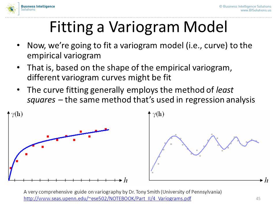 Fitting a Variogram Model