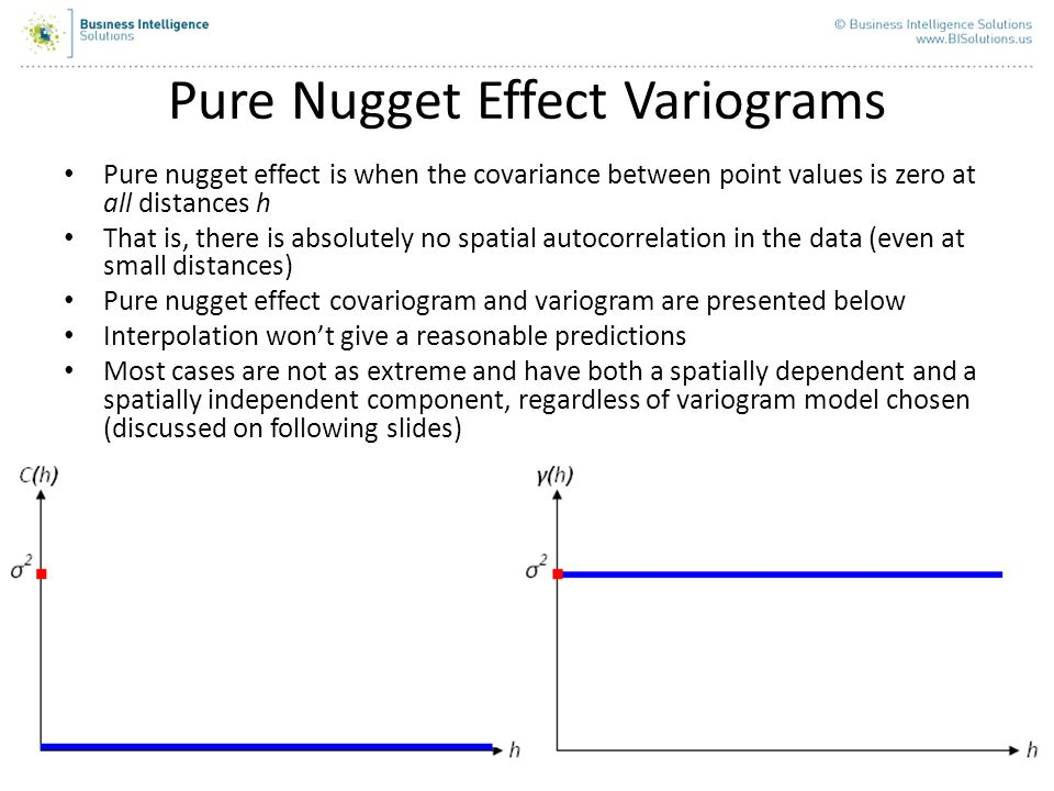 Pure Nugget Effect Variograms