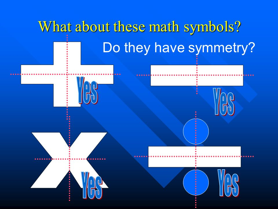 What about these math symbols