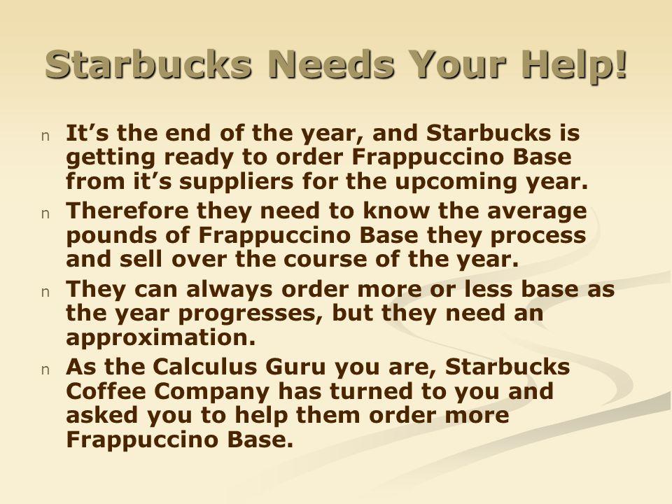 Starbucks Needs Your Help!