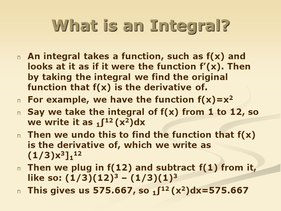 What is an Integral