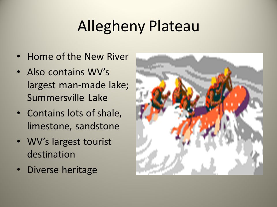 Allegheny Plateau Home of the New River