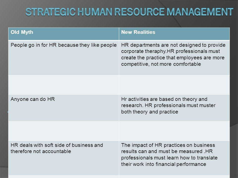 How do strategic decisions affect human resource management policies? ?