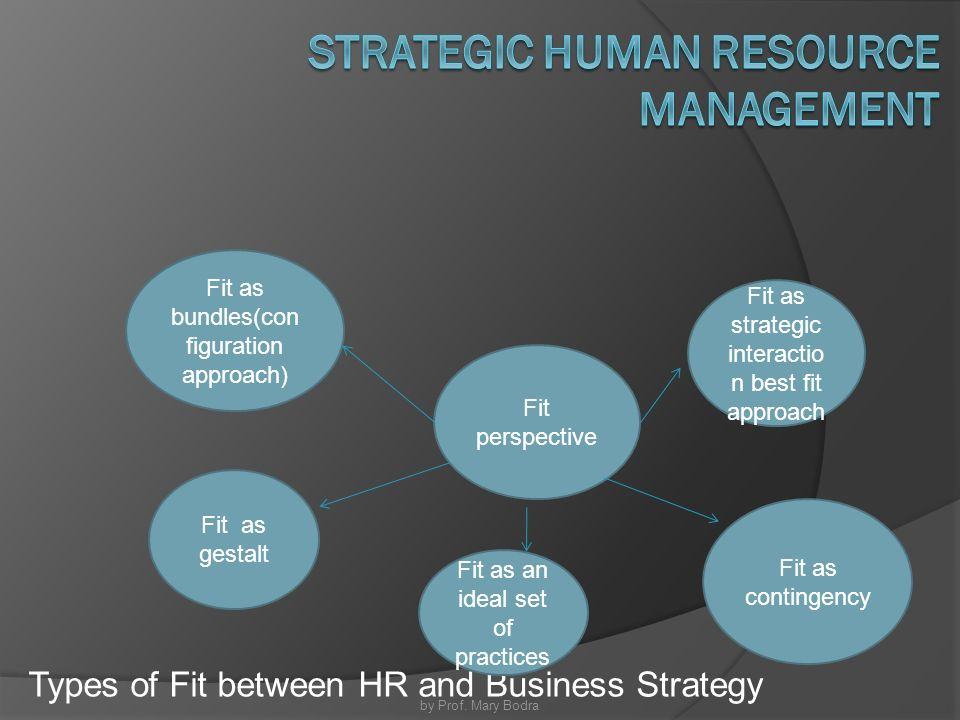 the fit and strategic human resource management Eva knies professor of strategic human resource management geverifieerd e-mailadres voor uunl  examining the role of person–organisation and person–job fit.
