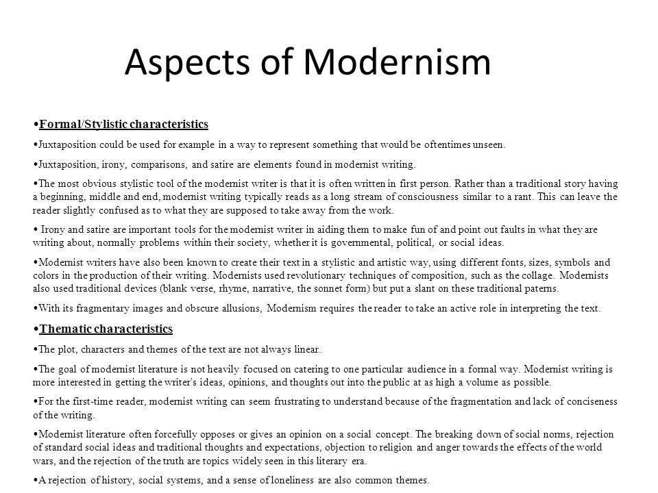 What aspects of modernity most worried