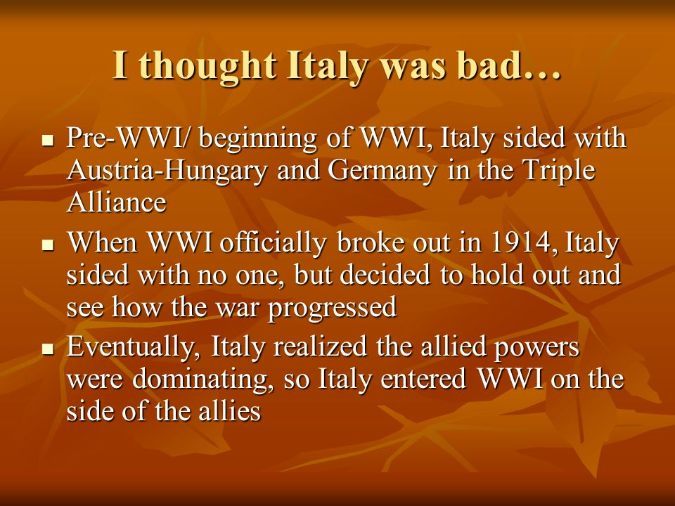 I thought Italy was bad…
