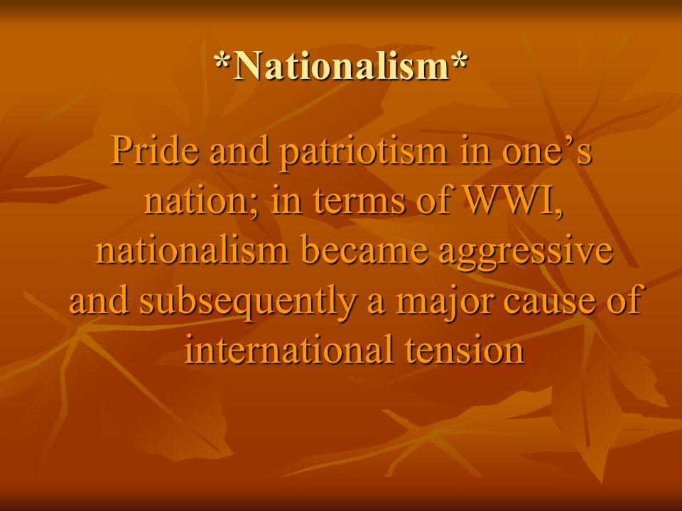 *Nationalism*