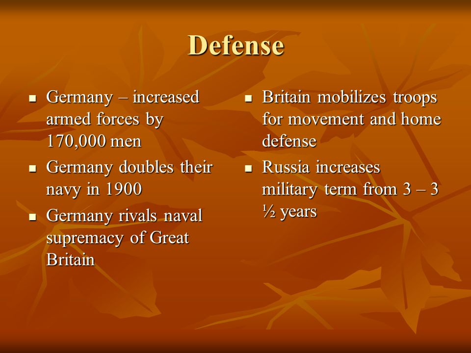 Defense Germany – increased armed forces by 170,000 men