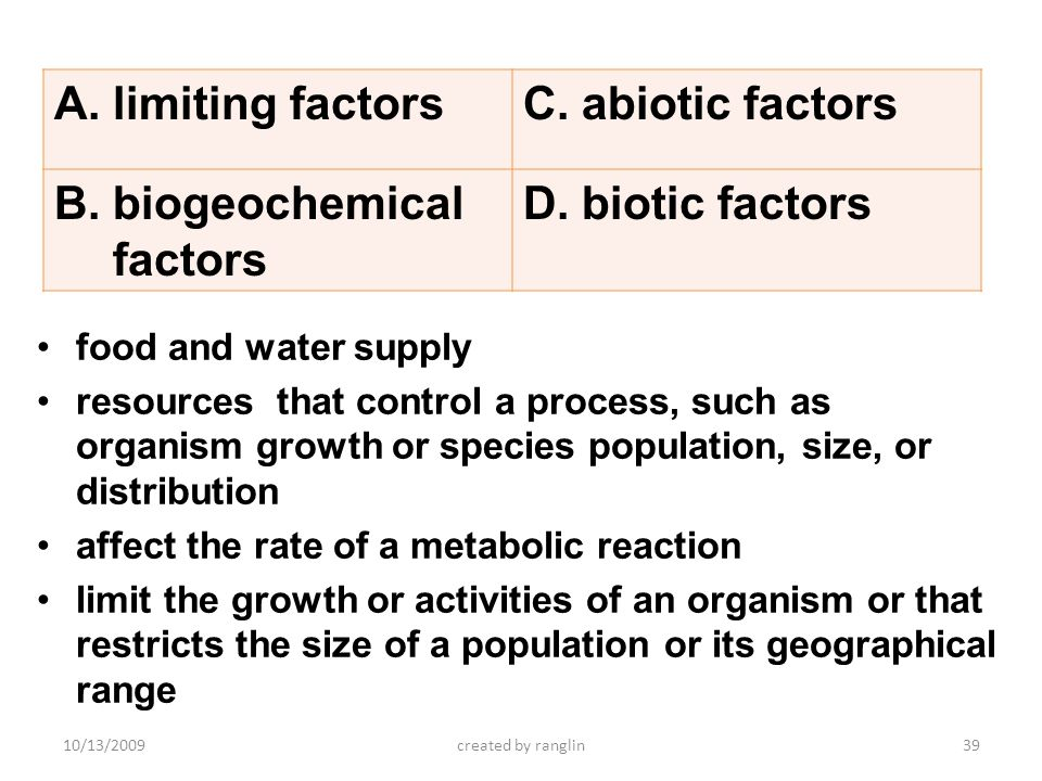 biogeochemical factors biotic factors