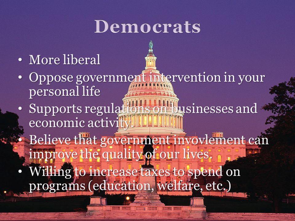 Democrats More liberal
