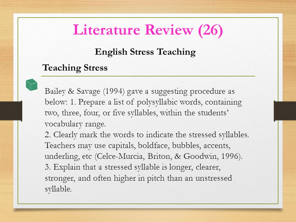 literature review teaching english Teaching diverse learners literature review  offers another good example of how teachers can effectively use literature response journals with english language.