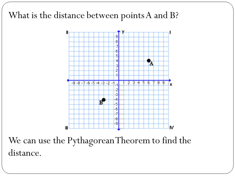 What is the distance between points A and B