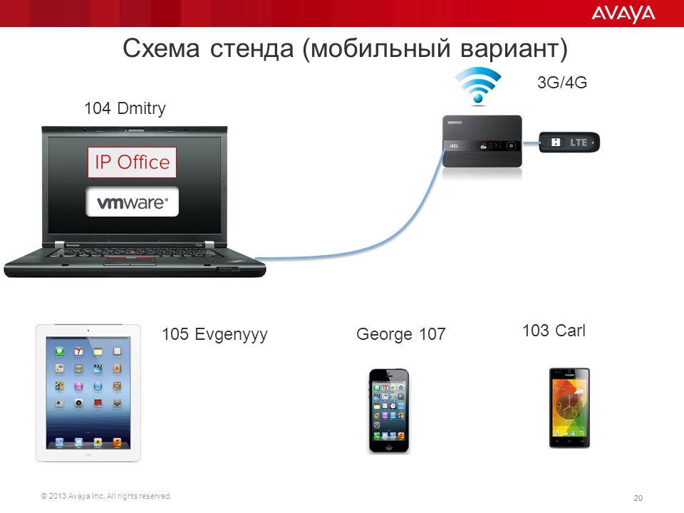 Схема стенда (мобильный вариант)