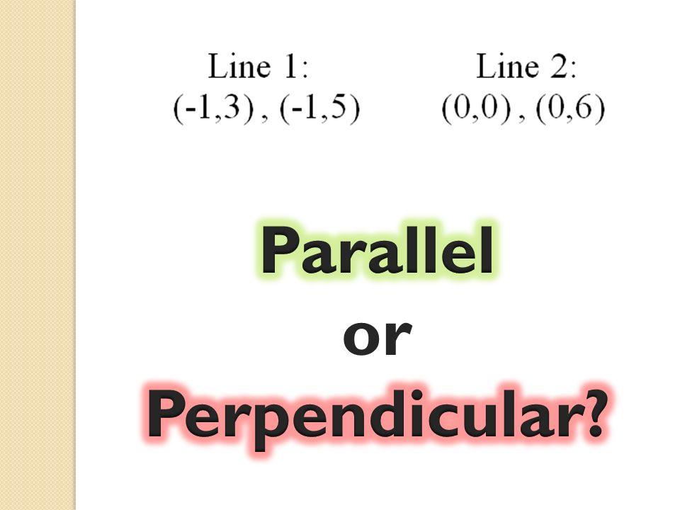 Parallel or Perpendicular