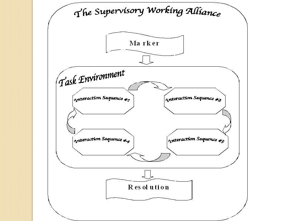 The Supervisory Working Alliance