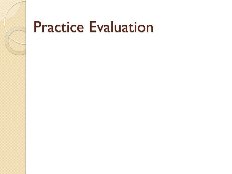 Practice Evaluation
