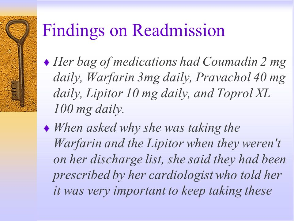 Findings on Readmission