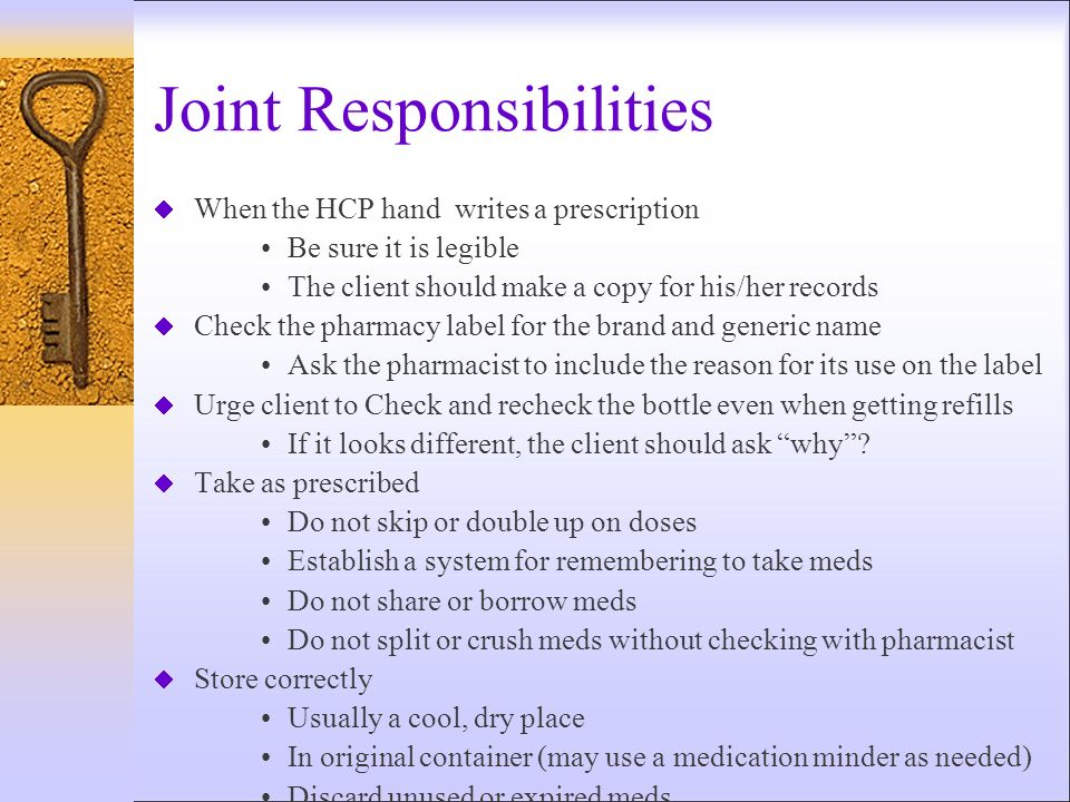 Joint Responsibilities