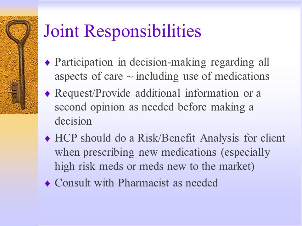 Joint Responsibilities